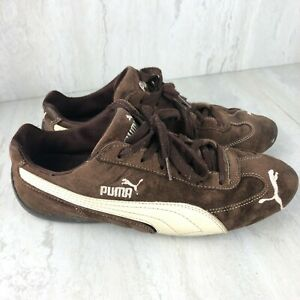 Puma Speed Cat Brown & White Vintage Suede/Leather | Womens Sneakers Size 9