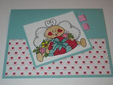 Cute Little Love Bug Handmade Valentine's Day Card
