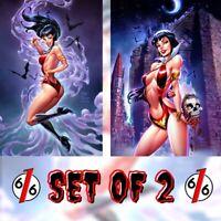 🚨🦇🔥 VAMPIRELLA #16 & #17 JOHN ROYLE SET OF 2 Virgin Variants Ltd 500 COA