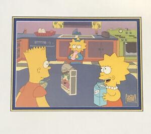 The Simpsons Original Production Cel Bart, Lisa Maggie Breakfast Scene