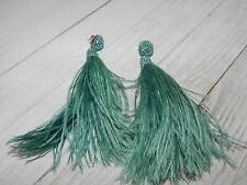 FEATHERS EARRINGS ANTHROPOLOGIE GREEN SUZANNA DIA LONG BEADS POST NEW TAG $118