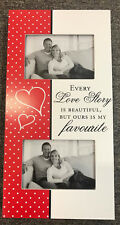LOVE STORY Wooden Photo Picture Frame Home Decor Wedding Anniversary Valentines