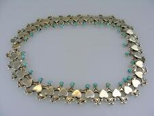 STUNNING STERLING SILVER & TURQUOISE - ART DECO - MEXICO - BY KRIKA