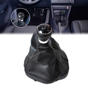 Fit For VW TOURAN 2003-2010 Black 6 Speed Gear Shift Knob Gaitor Boot
