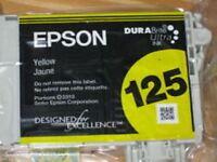 Epson 125 Yellow T125420 Ink Cartridge Genuine NEW