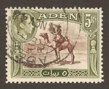 ADEN KGVI 1939-48 SG26 5r red-brown and olive-green - Good Used (JB17097)