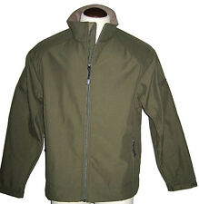 Mens Green Softshell Jacket sz L Coat NEW
