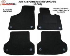 Audi A3 sportback 5 dr 2005 to 2011 tailored car mats + 8clips