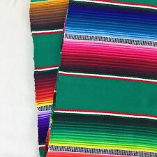 Mexican Sarape Table Runner 200 x 30cm Green great for party