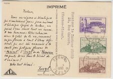 1950 FRENCH military administration of FEZZAN GHADAMES *IONYL* advertising card
