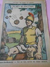 Humour Politique Mars La Guerre Qui sème le vent récolte la tempete Print 1936