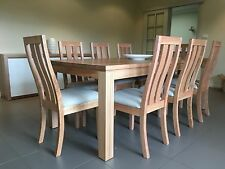 Australian Made Tasmanian Oak Hardwood Timber Dining Chair Choices Of Fabrics