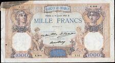 1000 frs CERES et MERCURE 10 Juillet 1930,FAY 37/5.