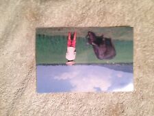Postcard, Water Buffalo in Rice Paddy, The Peoples Republic of China w Stamps
