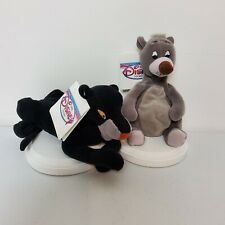 Disney Jungle Book Baloo And Bagheera Bean Bag Plush Toy Gray Black