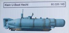 Artmaster 80.028 Klein U-Boot Hecht (Vollrumpf) Bausatz H0 1:87 Neu / OVP
