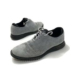 Cole Haan 2.0 Zero Grand Shoes Mens Sz 10.5 M  Lined Wingtip Oxford Gray Black