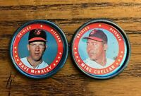1971 Topps COINS #26 Dave McNally and #150 Mike Cuellar - Orioles