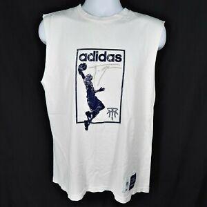 Vintage Adidas T Mac Tracy McGrady Basketball Cut Off Sleeve T-Shirt Mens Size M