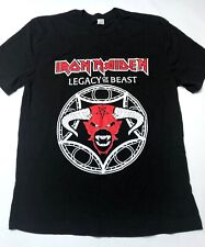 IRON MAIDEN Pentagram T-Shirt L Large Legacy of the Beast 2019 Tour Heavy Metal