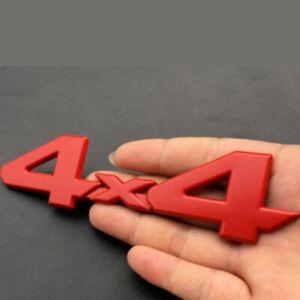 4x4 Logo Car-styling Decor Sticker Rear Tailgate Emblem Badge Decal 3D Metal Red