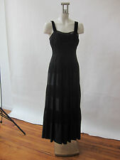 Mondi Ladies Evening Gown Dress Black Silk Netting Velvet Full Skirt 36