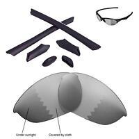 New WL Polarized Transition Lenses And Black Rubber Kit For Oakley Half Jacket