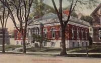 Antique POSTCARD c1907-20 Public Library BRISTOL, CT Unused 16625