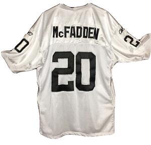 Oakland Raiders Stitched Size 54 McFadden Reebok On Field White Number 20 Jersey