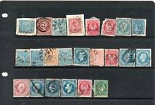 os76 Norway earlies stock card 23 stamps mixed condition