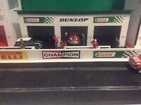 1:32 Scale Castrol - Dunlop 3x Pit Car Garage Building, Scalextric Carrera,SCX
