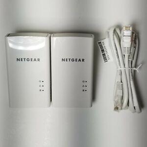Pair of Netgear Powerline 1000 PL1000 Ethernet Network Adapters