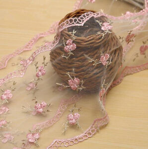 5 Yards handmade embroidery flowers lace Trim Wedding dress Accessories 150MM