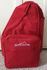 Eddie Bauer Picnic Backpack Insulated Carrier Plates Napkins Cups Corkscrew
