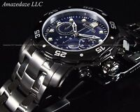 NEW Invicta Mens Swiss Chronograph Stainless Steel Blue Dial Scuba Watch !!
