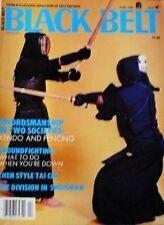 RARE 4/82 BLACK BELT MAGAZINE IAI-DO FENCING KENDO NAGINATA KARATE MARTIAL ARTS