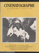 CINEMATOGRAPHE 1977- n°29- Mass-media et nouveaux écrans. R.Bresson, Rossellini.