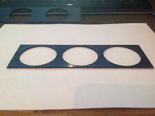 Carbon fibre effect Single DIN radio Tripple 52mm gauge pod panel, facia panel