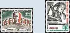 Timbres UNESCO Cote d'Ivoire 333/4 ** lot 25499