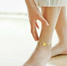 Ankle Bracelet New Fashion Foot Chain Love Heart Shape Gold/Silver Tone Anklet