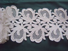 > Vintage Trim - White Cotton - Guipure Lace - 11 cms Wide x 158 cms [A]