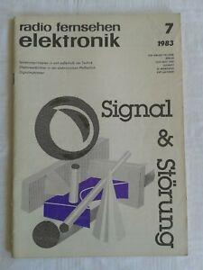 Zeitschrift Radio Fernsehen Elektronik Nr. 7-1983, Fachzeitschrift