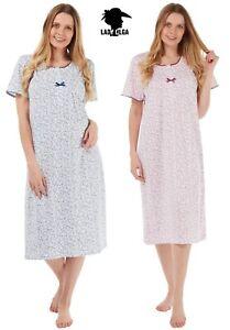 NEW 100%Cotton Jersey Short Sleeve Nightdress by Lady Olga Nightie Size 8-26