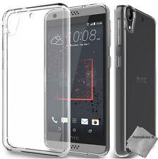 Housse etui coque gel fine pour HTC Desire 650 + verre trempe - TRANSPARENT TPU