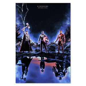 Avengers Endgame Movie Poster - Thor, Captain America, Iron Man Exclusive Art