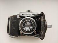 Vintage Balda Baldina Folder Viewfinder camera Carl Zeiss Jena Tessar 2.8 50mm