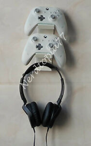 Xbox series,xbox one ps5 controller + headset mount/stand/holder Black or white