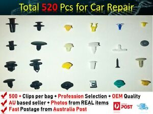 520PCS PLASTIC Car Trim Body Clip Kit Rivet Retainer Door Panel Bumper FIT VOLVO