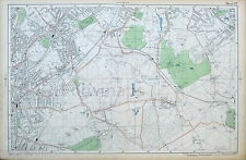 LONDON - Antique Map / Street Plan, NORWOOD, WEST WICKHAM, SHIRLEY - BACON, 1910