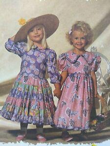 Precious Vintage 1994 McCalls 6965 Girls 4-6 Dress Pattern Mousefeathers Uncut